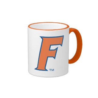 Logotipo anaranjado y azul de la Florida F Taza De Dos Colores