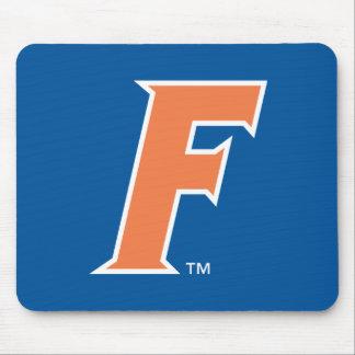 Logotipo anaranjado y blanco de la Florida F Tapete De Raton