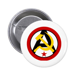 logotipo Anarcho-comunista Pin Redondo 5 Cm