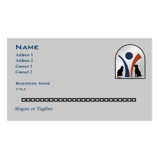Logotipo animal veterinario personalizado tarjetas de visita
