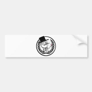 Logotipo anónimo de LulzSec Etiqueta De Parachoque