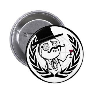 Logotipo anónimo de LulzSec Pin Redondo 5 Cm