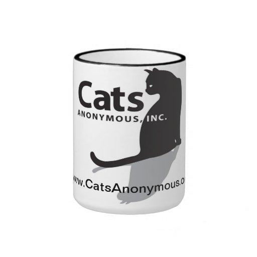 Logotipo anónimo Drinkware de los gatos Tazas De Café