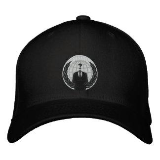 Logotipo anónimo gorra de béisbol