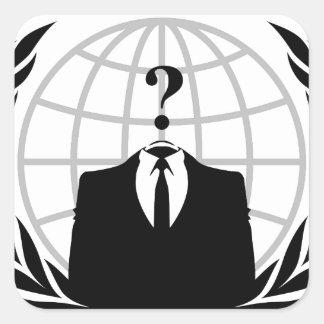 Logotipo anónimo etiqueta