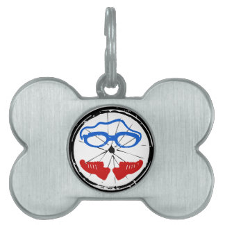 Logotipo anormal del Triathlon Placas Mascota
