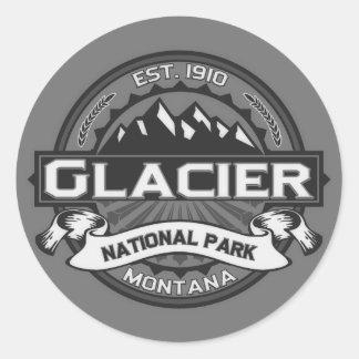Logotipo Ansel Adams del glaciar Pegatina Redonda