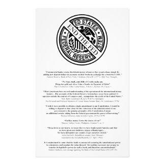 Logotipo anti de Federal Reserve con las citas Cojinete