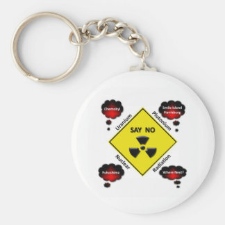 Logotipo anti de la energía atómica llavero personalizado