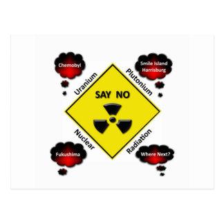 Logotipo anti de la energía atómica postales