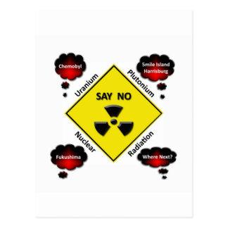 Logotipo anti de la energía atómica postal
