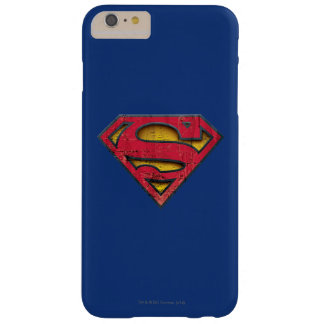 Logotipo apenado el | del S-Escudo del superhombre Funda De iPhone 6 Plus Barely There