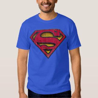 Logotipo apenado el | del S-Escudo del superhombre Playera