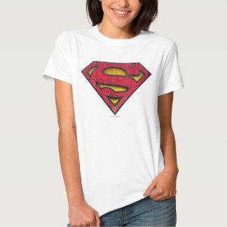 Logotipo apenado el | del S-Escudo del superhombre Playeras