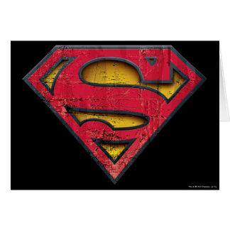 Logotipo apenado el | del S-Escudo del superhombre Tarjeta De Felicitación