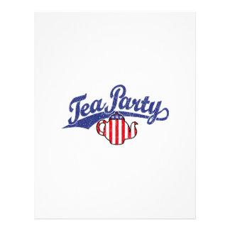 Logotipo apenado fiesta del té membretes personalizados