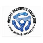 Logotipo apenado márketing de Michael Brandvold Tarjetas Postales