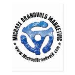 Logotipo apenado márketing de Michael Brandvold Postales