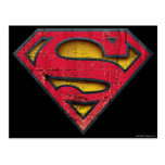 Logotipo apenado superhombre tarjetas postales