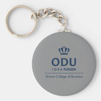 Logotipo apilado ODU - azul Llavero Redondo Tipo Pin