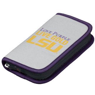 Logotipo apilado oro vivo de la púrpura del amor d organizadores