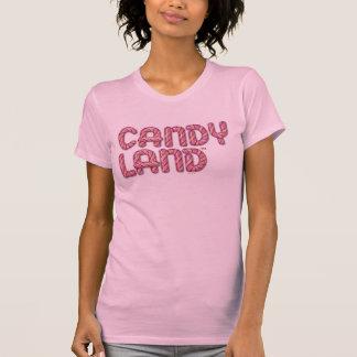 Logotipo apilado tierra del caramelo playera