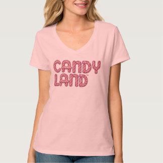 Logotipo apilado tierra del caramelo playeras