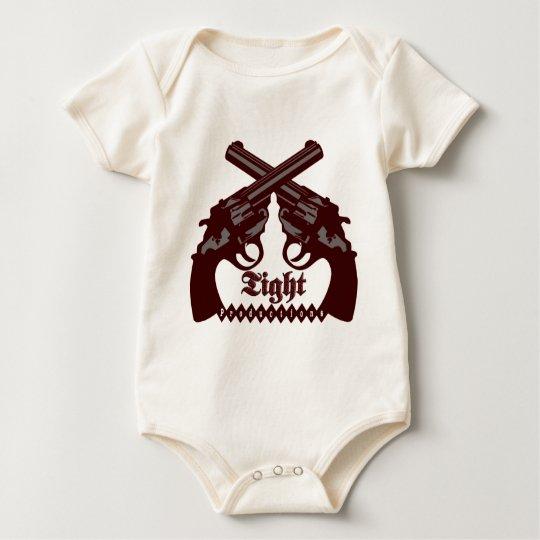 Logotipo apretado de las producciones body para bebé