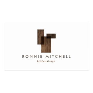 Logotipo arquitectónico moderno de los mediados de tarjetas de visita