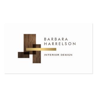 Logotipo arquitectónico moderno del diseño tarjetas de visita