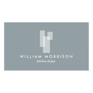 Logotipo arquitectónico moderno en gris tarjetas de visita