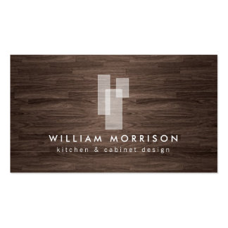 Logotipo arquitectónico moderno en viruta oscura tarjetas de visita
