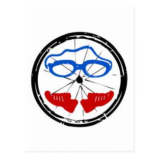 Logotipo artístico fresco del Triathlon Postal