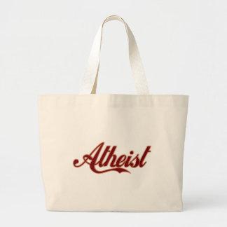 Logotipo ateo del estilo de la cola bolsa tela grande