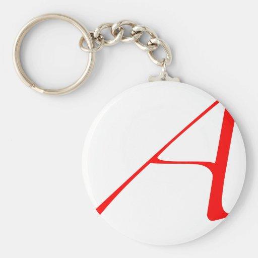 Logotipo ateo llavero redondo tipo pin