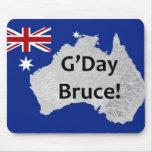 Logotipo australiano Mousepad de G'Day Bruce Alfombrillas De Ratón