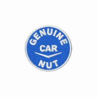 Logotipo auténtico de la nuez del coche camiseta polo bordada