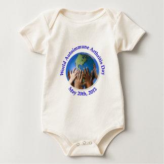 Logotipo autoinmune del día de la artritis (WAAD) Body Para Bebé