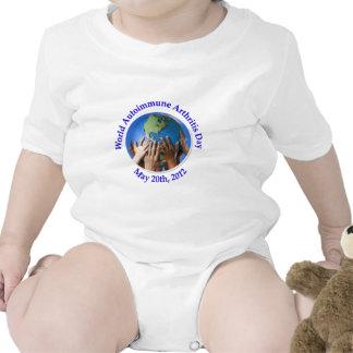 Logotipo autoinmune del día de la artritis (WAAD) Traje De Bebé