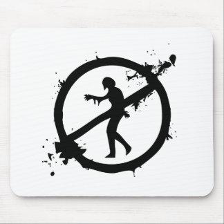Logotipo avanzado de la disposición del zombi alfombrillas de raton