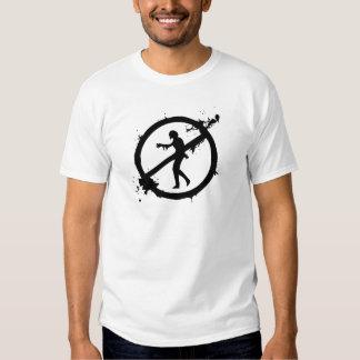 Logotipo avanzado de la disposición del zombi camisas