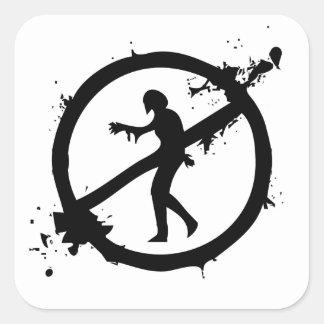 Logotipo avanzado de la disposición del zombi pegatina cuadrada