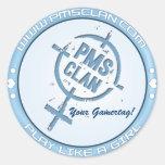 Logotipo azul 2 de la etiqueta engomada de PMS