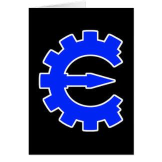 Logotipo azul básico tarjeta pequeña