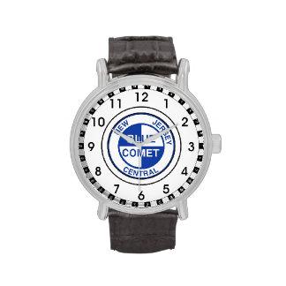 Logotipo azul central del tren del cometa de New Reloj De Mano