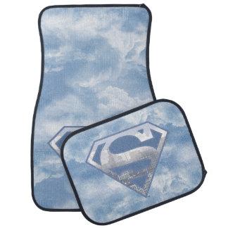 Logotipo azul claro de la ciudad del S-Escudo el | Alfombrilla De Auto