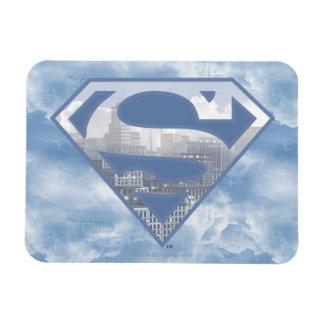 Logotipo azul claro de la ciudad del S-Escudo el | Imanes Flexibles