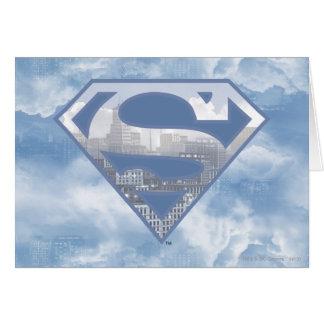 Logotipo azul claro de la ciudad del S-Escudo el | Tarjeta De Felicitación