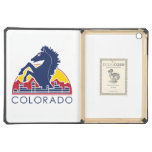 Logotipo azul de Colorado del caballo
