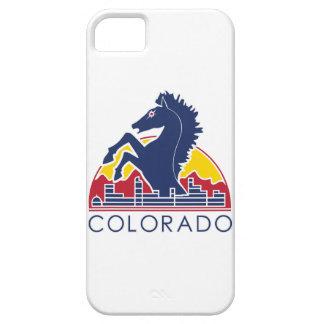Logotipo azul de Colorado del caballo iPhone 5 Protectores